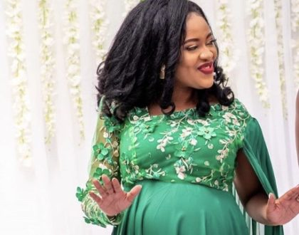 Kambua's huge baby bump leaves fans convinced singer is pregnant with twins (Photo)