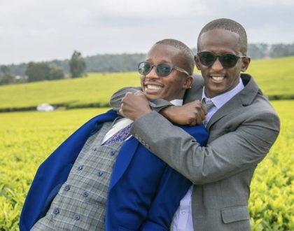 Comedian Njugush's small brother weds the love of his life in lavish ceremony (Photos)