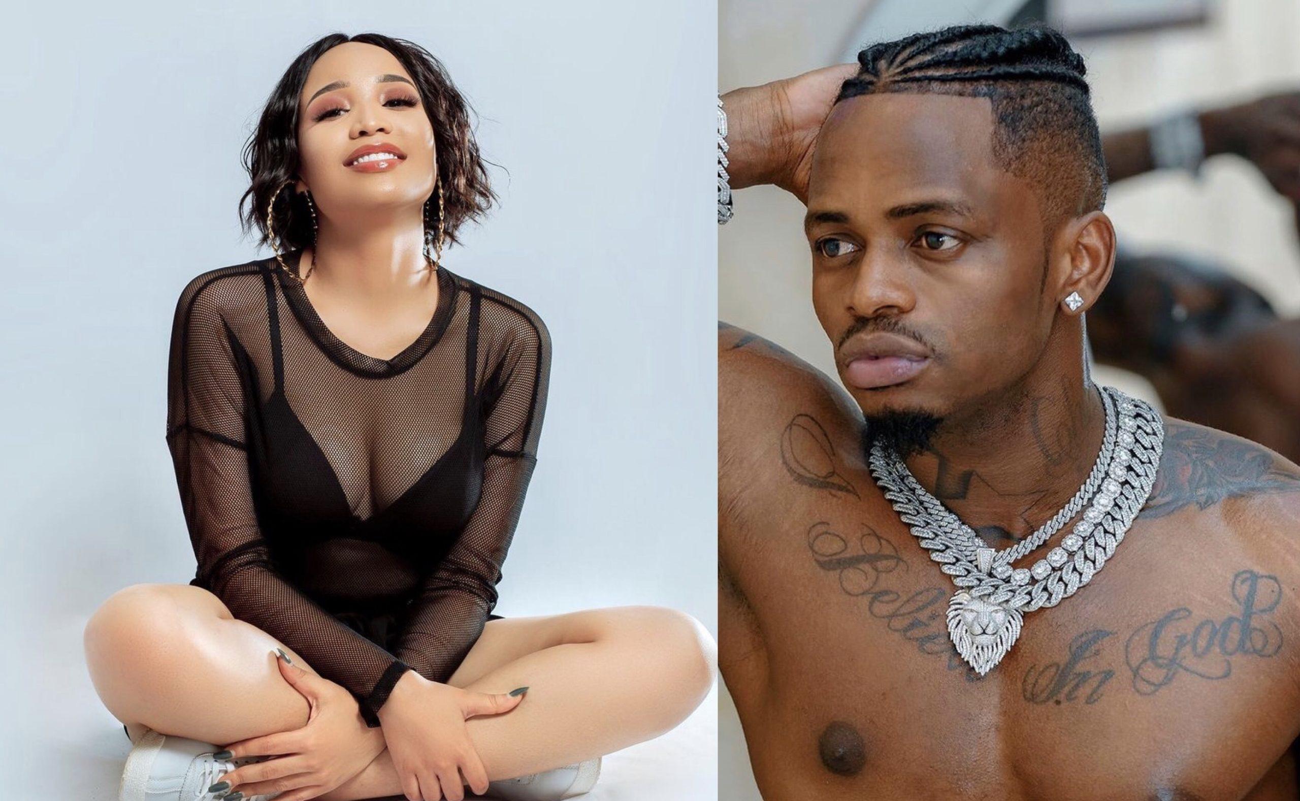 Tanasha anajua? Diamond Platnumz alleged lover steps out wearing singer's white gold chains (Video)