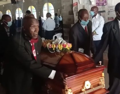 Comedian Njoro's father finally laid to rest (Photos)