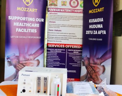 Mozzart fulfills promise to Pumwani Maternity Hospital by donating special medical equipment worth Ksh 400,000