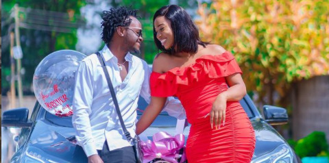 Bahati Reacts After Brand New Mercedes Gift By Wife Diana (Photos)