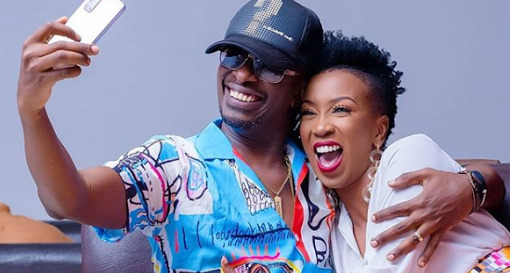 Watu Hutoka Mbali! Wahu Shares Throwback Photo With Hubby Nameless And Their First Born (Photo)