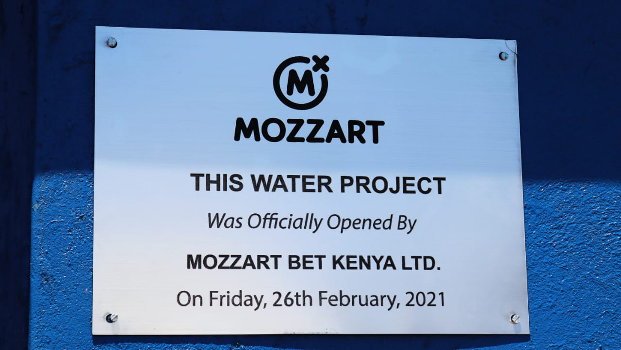 Mozzart inspires better health for Katanga residents in Machakos County as it commissions a Clean Water Community Water Project