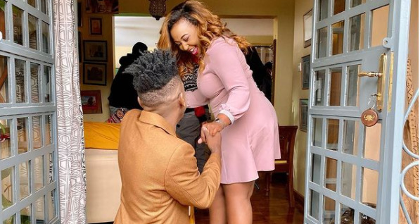 Anamtaka? Eric Omondi Buys Flowers, Ring For Betty Kyalo