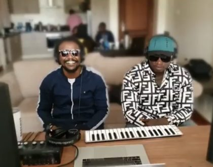 It's about to get lit! Khaligraph Jones and Nyashinski spotted together at unknown recording studio - sparking collabo rumors