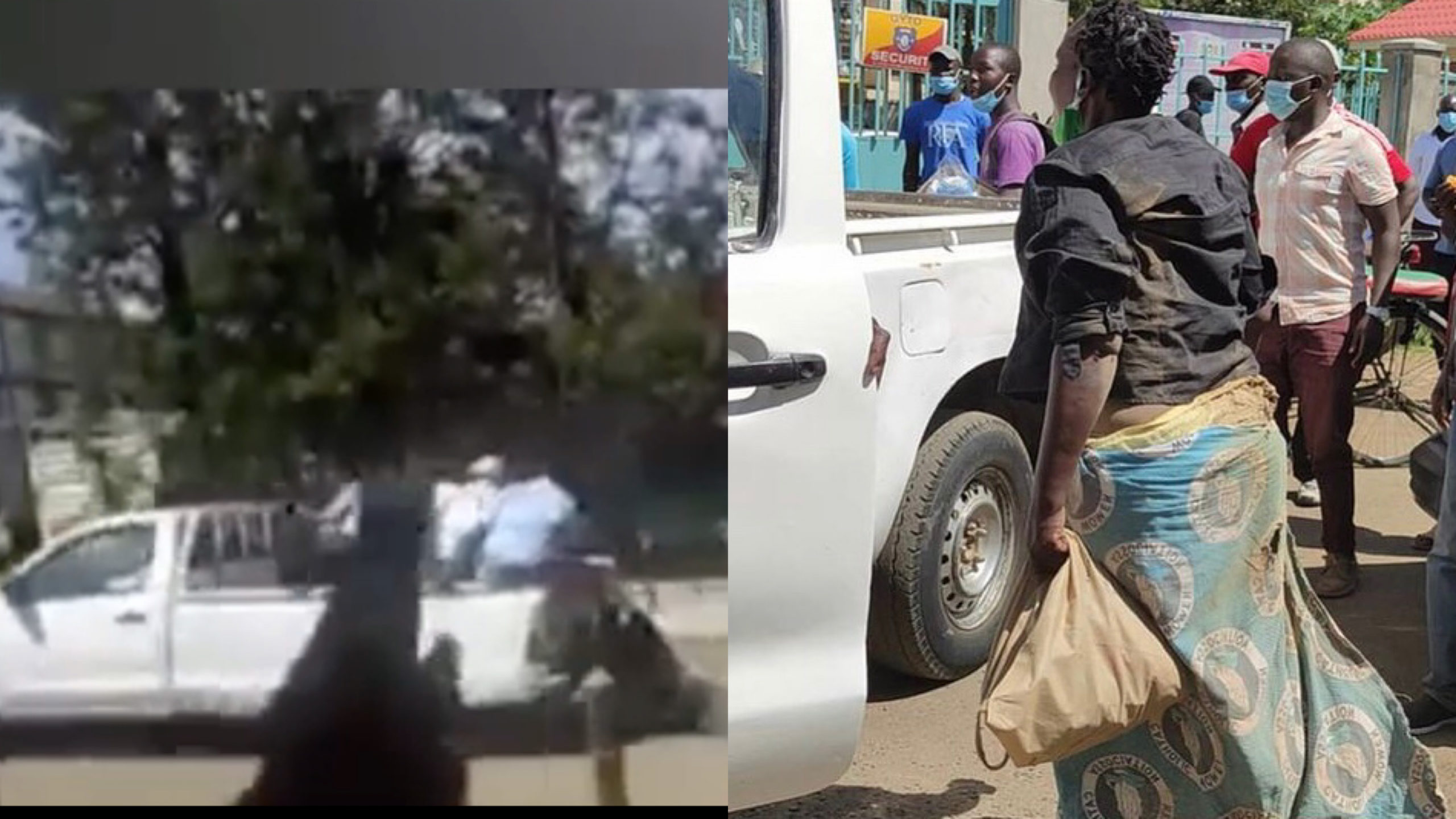 Meet the female hawker who was shamelessly dragged on a tarmac road by Kisumu county officers (Photo)