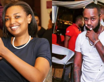 Tall, chocolate and handsome! Meet Karen Nyamu's first baby daddy (Photos)