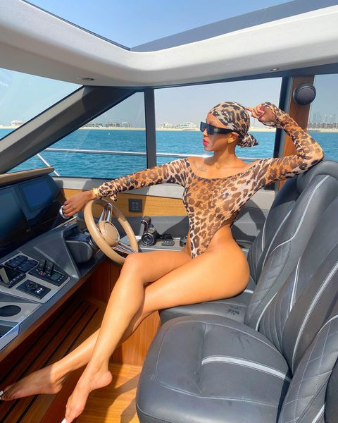 Huddah has entered god-level socialite status as a yacht girl