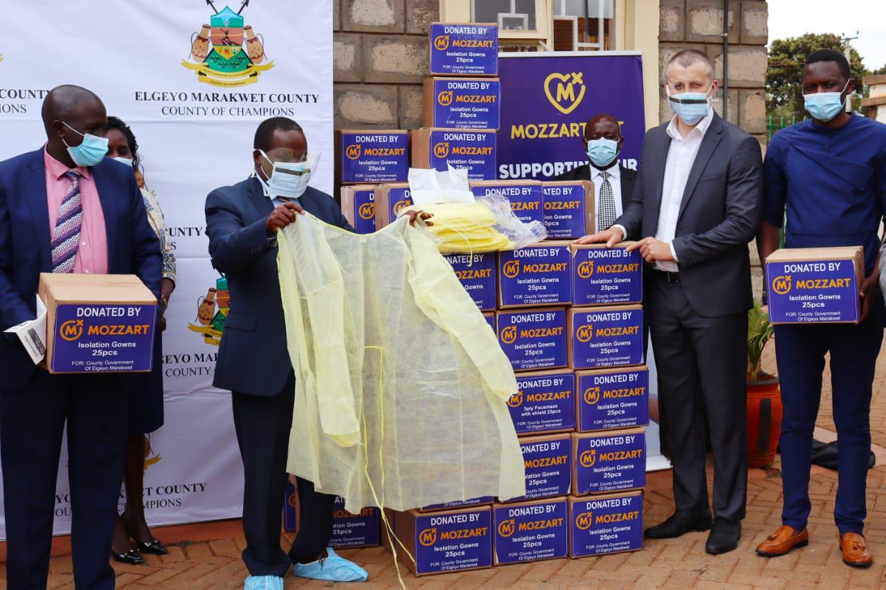 Mozzart donates PPEs worth Ksh 2 MILLION to Iten County Referral Hospital