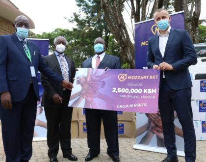 Homa Bay County Governor Cyprian Awiti: Mozzart's donations will improve health care in our county
