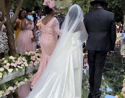 Breathtaking: June Ruto's designer wedding dress that left her looking like a real princess (Photos)