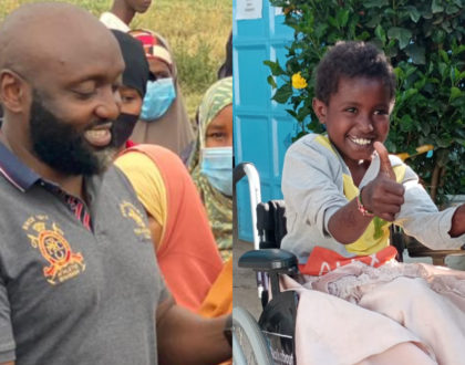 How Philanthropist Mwenda Thuranira blessed disabled children from Isiolo North