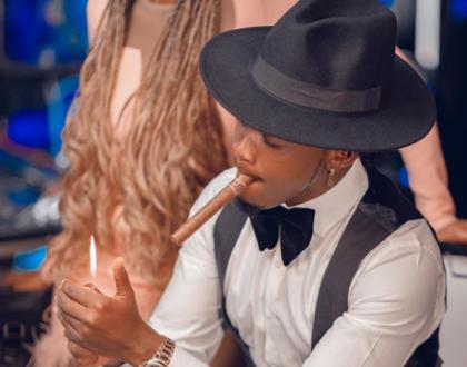 'Mtoto Wa Mama Umeharibika!' Fans React To Viral Video Of Bahati Smoking (Video)