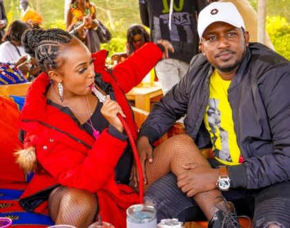 Amber Ray leaves nothing to imagination in skimpy outfit while partying with hubby (Photos)