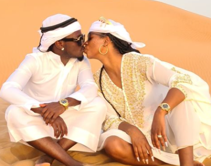 Dubai On A Yacht- Hot Photos Of Bahati And Wife Diana Having A Great Time In Dubai