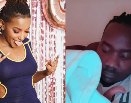 Willis Raburu's girlfriend explains why their baby was born out of wedlock