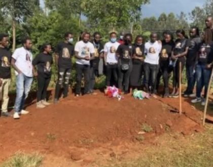 One of the four friends killed in Kitengela finally laid to rest (Photos)