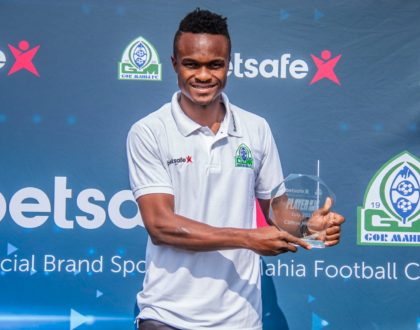 Gor Mahia's talismanic winger Miheso voted Player of the Month