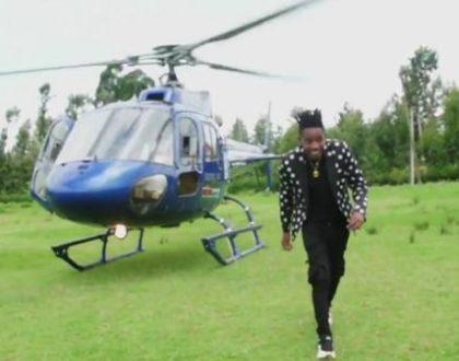 President Lazima Akue Na Ndege- Eric Omondi Brags About Owning Two Choppers Worth Over Ksh 300 Million