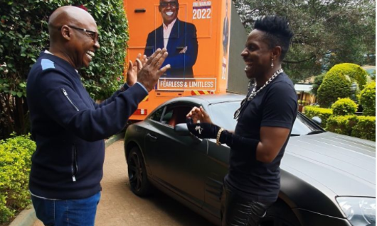 Jimmy Wanjigi Gifts Eric Omondi Brand New Chrysler To Help Him Campaign (Video)