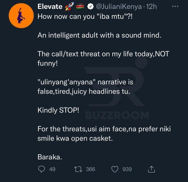 Juliani death threat