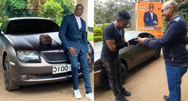 Who's Fooling Who?- Jimmy Wanjigi's Car Gift To Eric Omondi Alleged To Be Owned By Steve Mbogo (Photos)