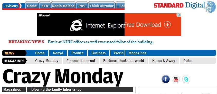 standard news kenya