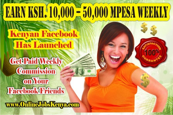 Earn Ksh 10-50,000 MPESA Weekly  Online Jobs For the Youth  Kenyan