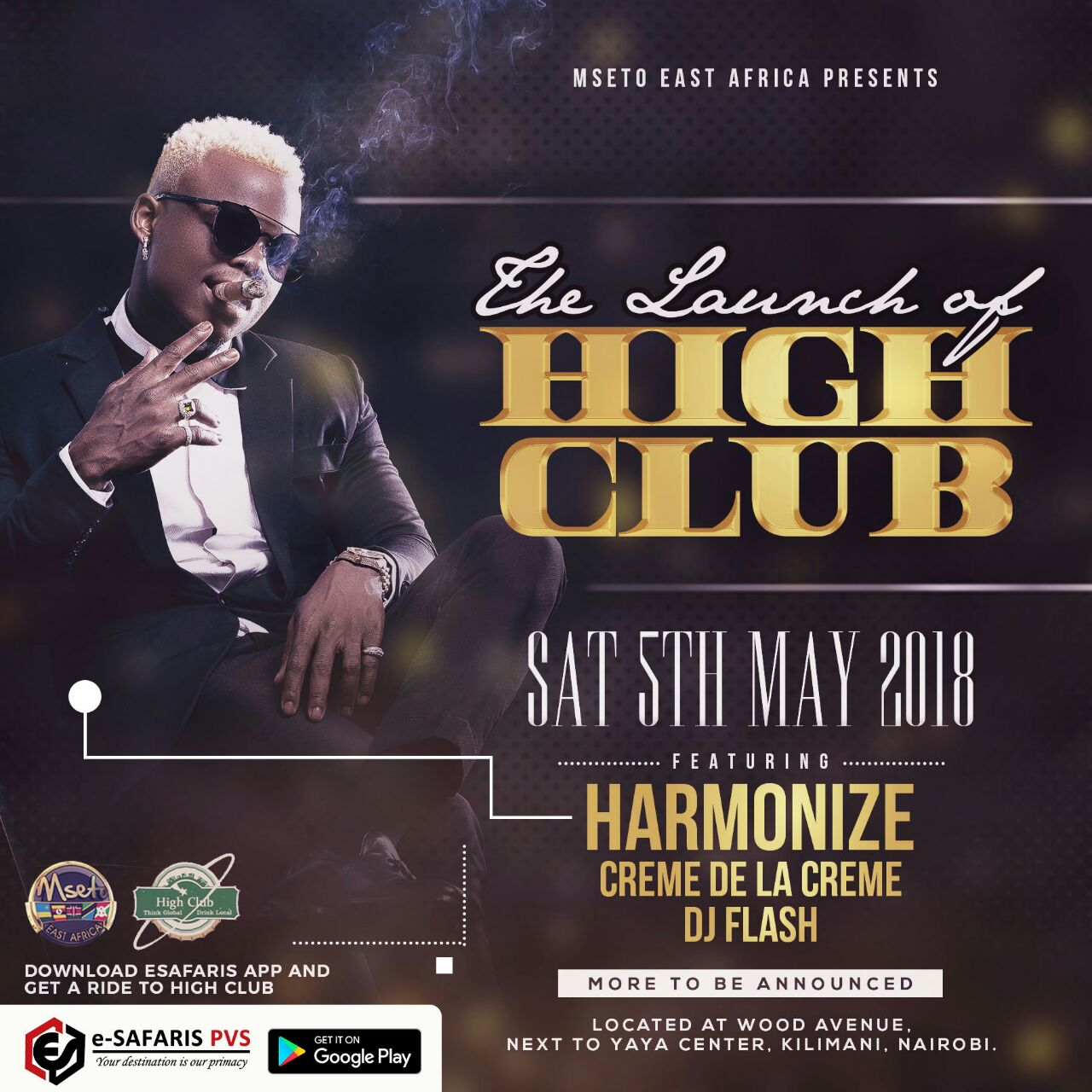 HARMONIZE SET TO HEADLINE THE LAUNCH OF A NEW CLUB IN NAIROBI - HIGH CLUB