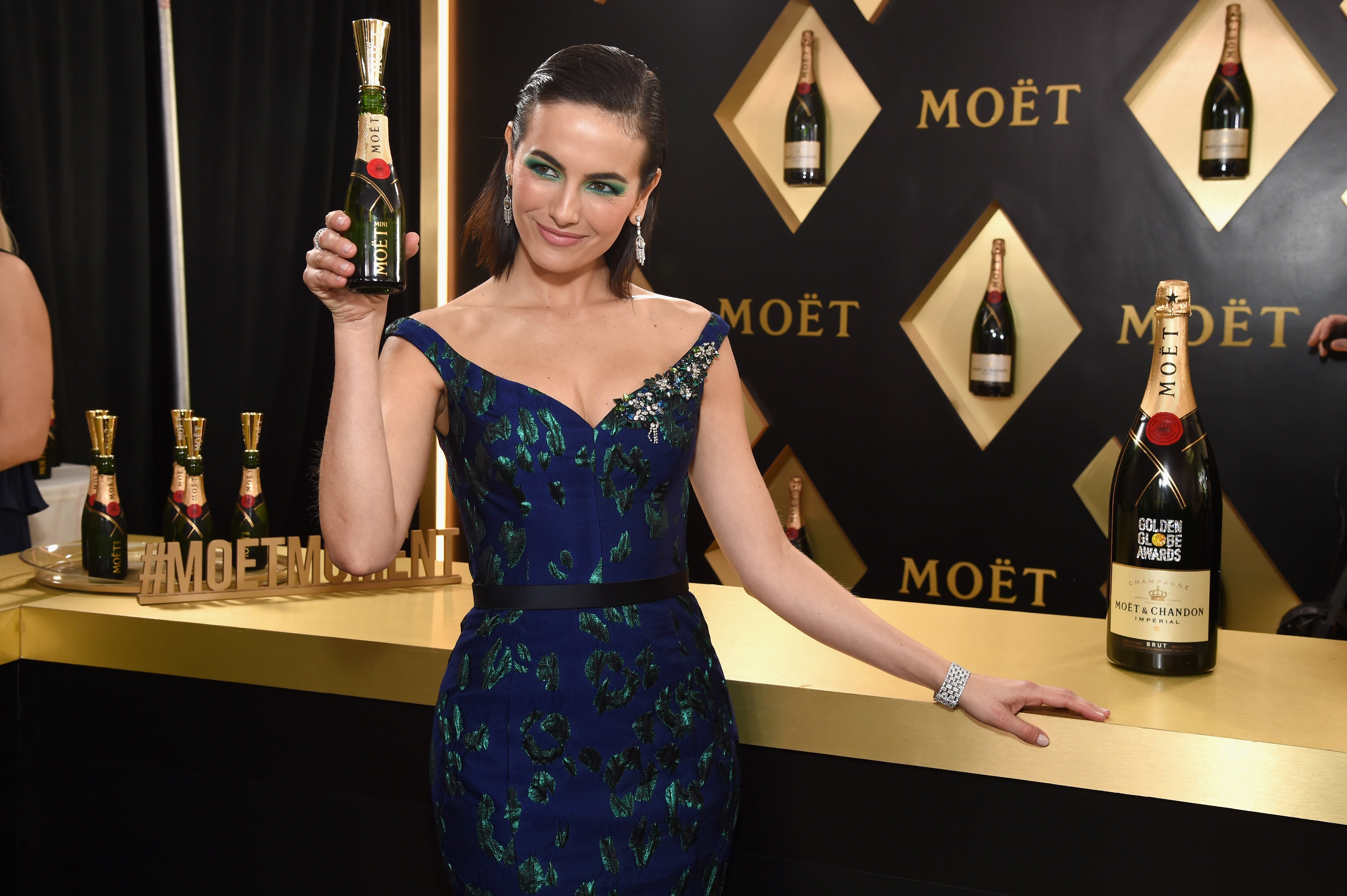 """Over 1.500 Moët Minis Were Served To A Roster of Stars At The Golden Globe Awards, Celebrating The 10th anniversary of The Initiative, """"Toast for a Cause""""."""
