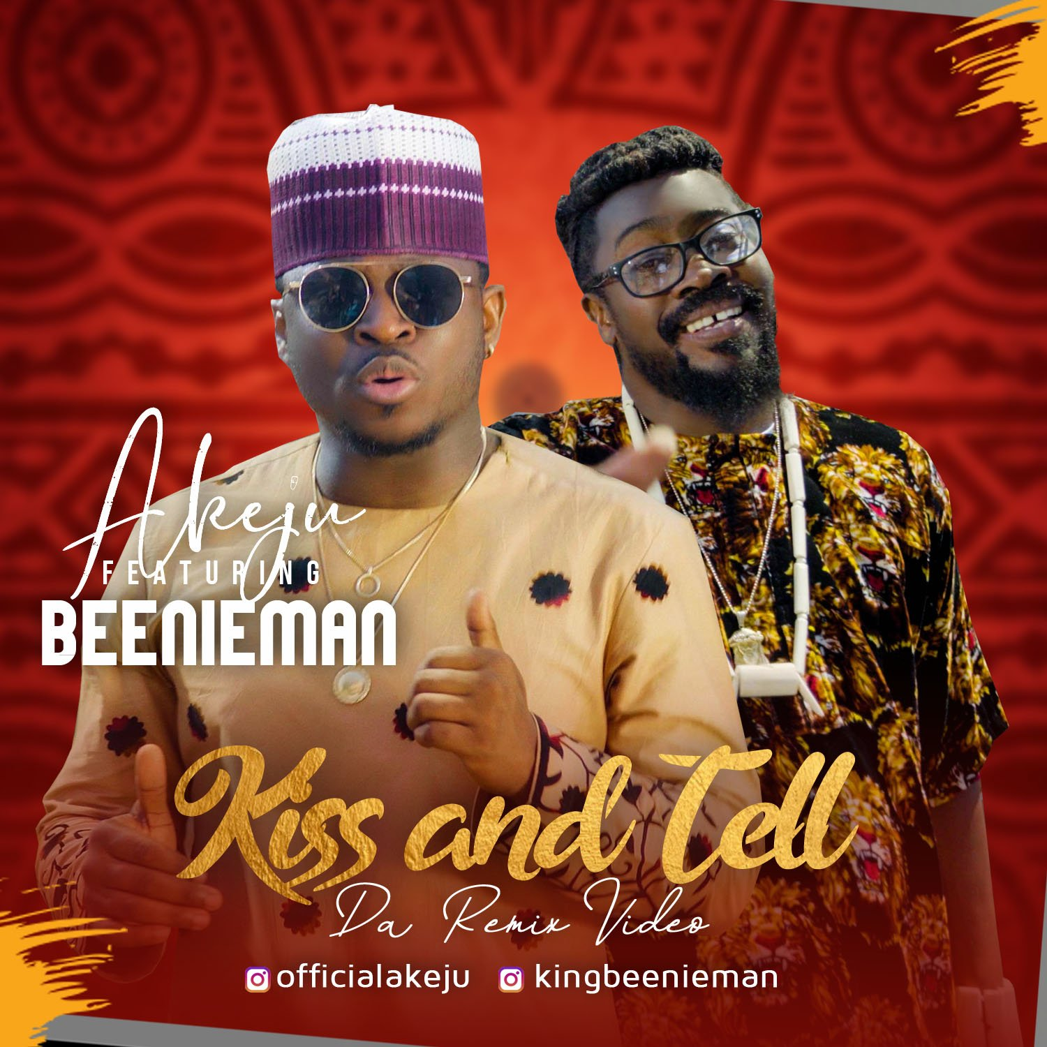 Akeju and reggae dancehall king Beenie Man release 'Kiss and Tell' remix music video
