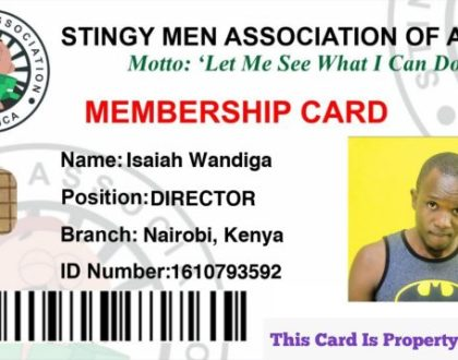 Nyakundi the Comedian – STINGY MEN ASSOCIATION Anthem