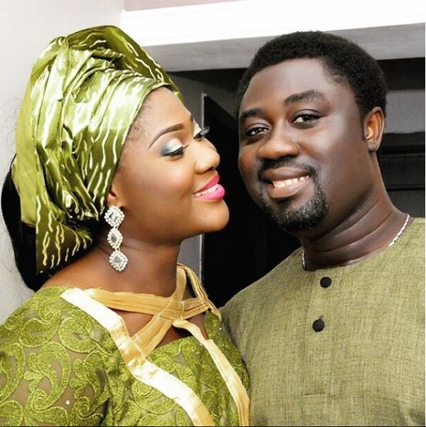 Mercy Johnson and husband working out together