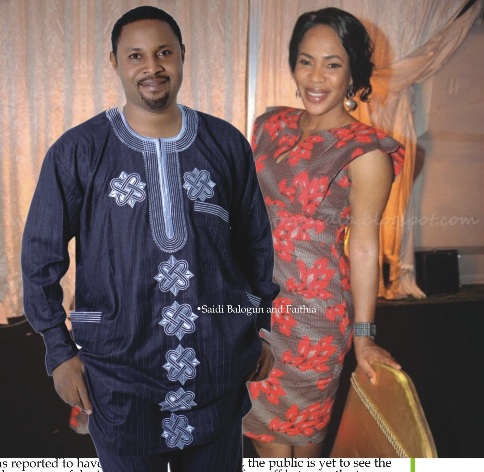 Friendly exes: Watch as Saidi Balogun spray Fathia Balogun at Mercy Aigbe's birthday party