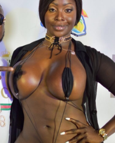 Big sexy boobs stretching nude