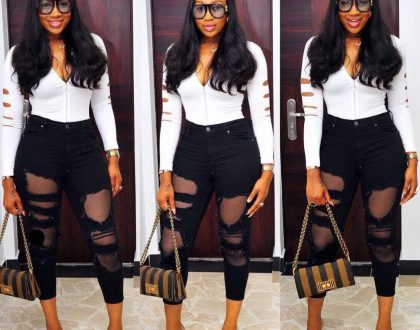 Actress Ebube Nwagbo stylish Monday look.