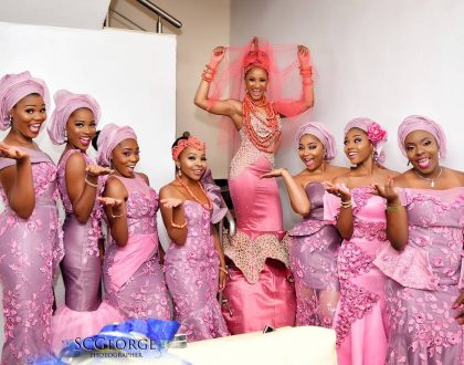 Meet the bridesmaids and friends of the bride at the traditional wedding ceremony of Banky W and Adesuwa Etomi