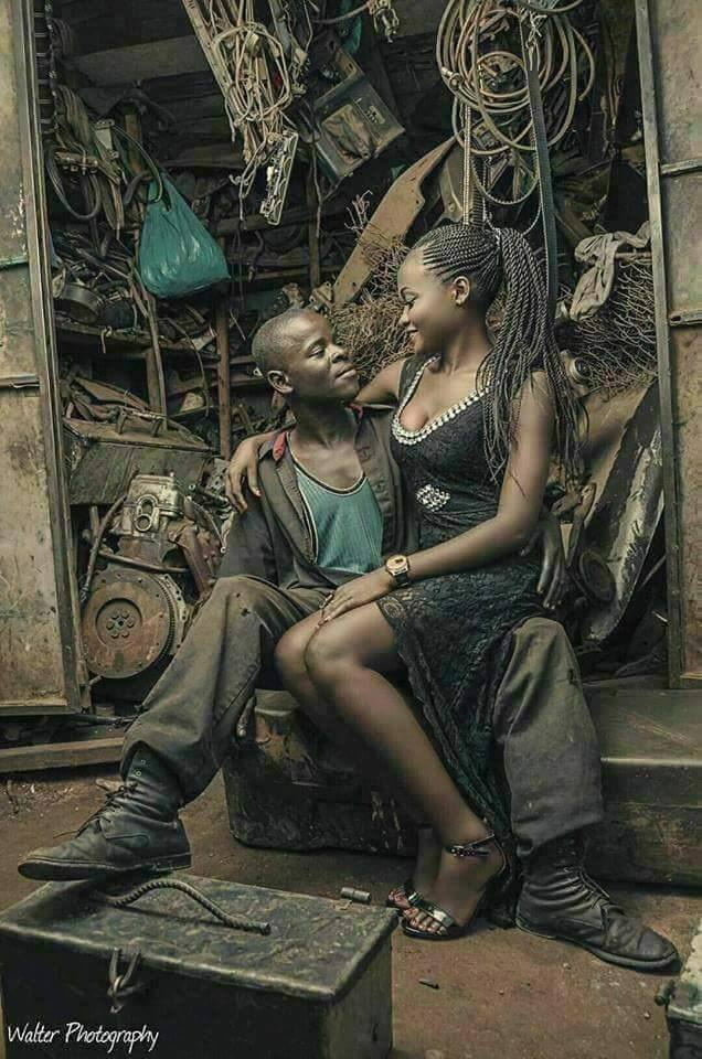 See This Beautiful Mechanic And Bride To Be Pre Wedding Photo