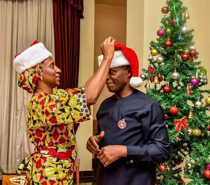 Vice President Yemi Osinbajo and Dolapo Osinbajo releases Christmas photos