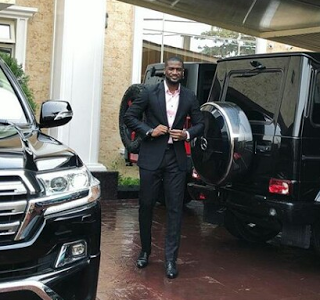 Check out the exquisite look of Peter Okoye's car Garage