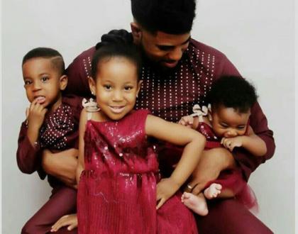 Adorable photos of Thin Tall Tony and his three kids