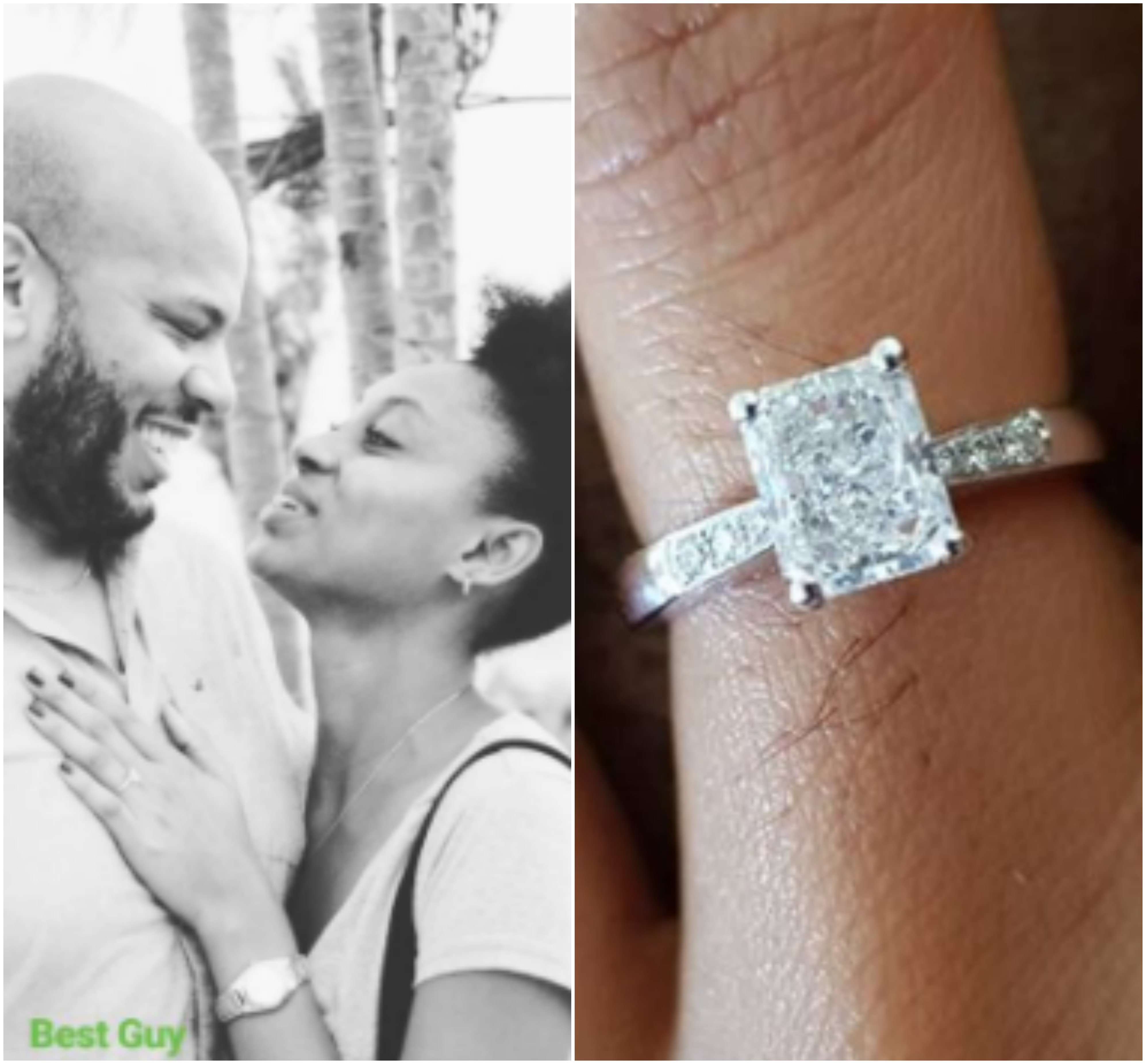Beautiful model and actress, Makida Moka shows off her engagement ring