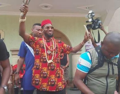 Dbanj honoured with a chieftancy title in Imo State; rocks the traditional Igbo attire