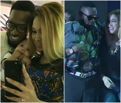 See this rare photo of Dbanj and his wife Lineo Didi Kilgrow with their son