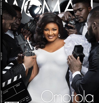 Omotola Jolade-Ekehinde in front cover of TW Magazine
