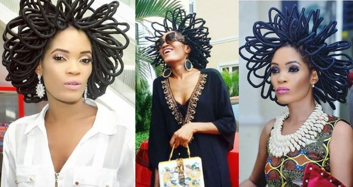 Meet model Chika Lann who says her hairstyle is worth 40 million naira