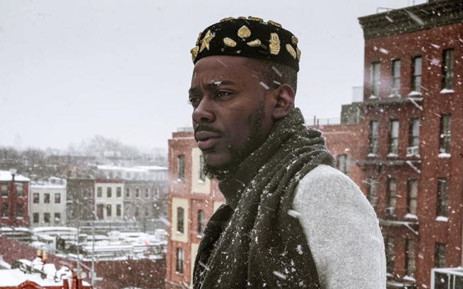 First time photos of Adekunle Gold in snow