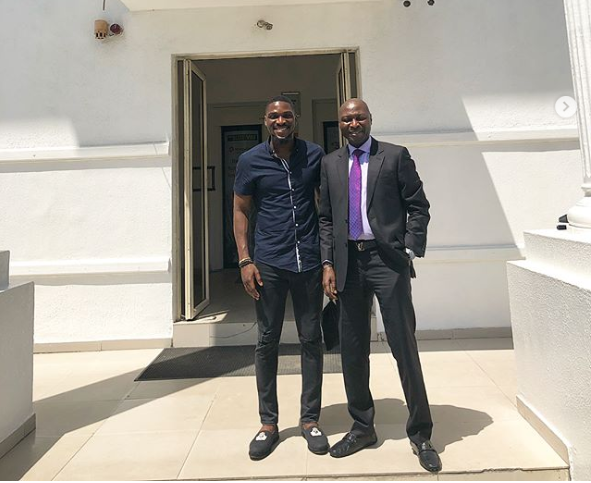 Photo of BBNAIJA Tobi as he pays his father  a visit