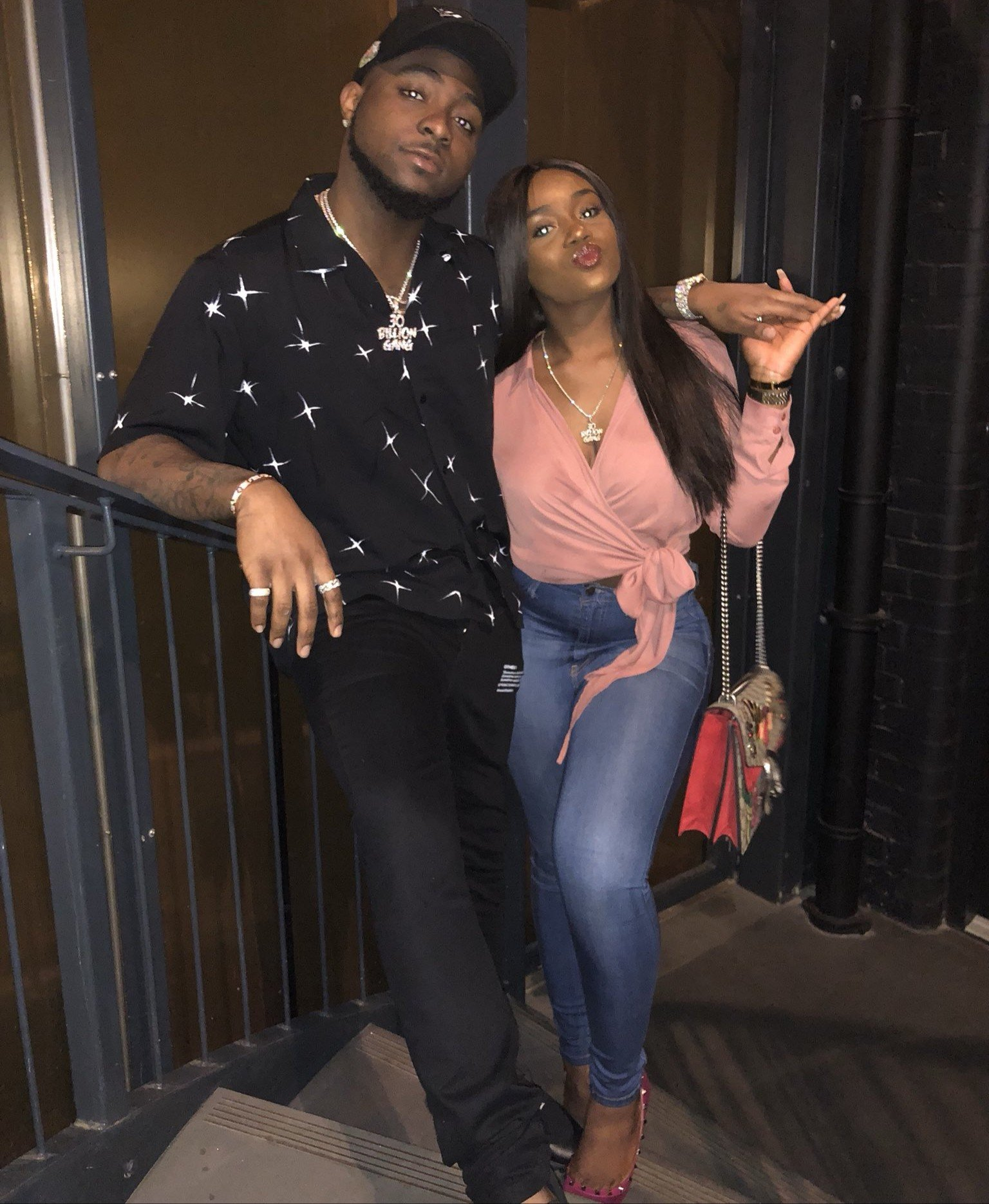 Photo of Davido and Chioma on a date